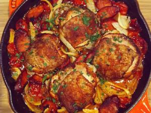 Spanish Skillet Chicken-1