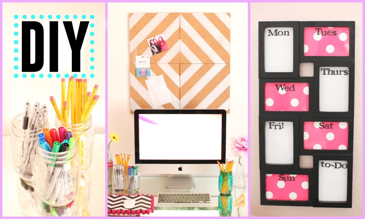 Diy Back To School Room Decor Organization Pink And