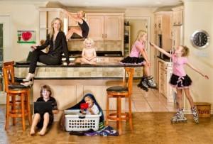 Julie and kids