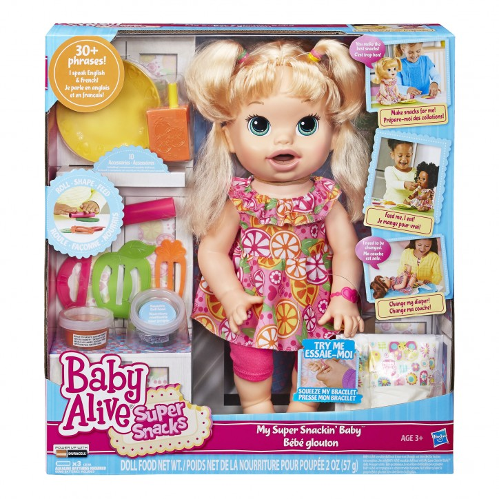 Baby Alive Snackin' Sara - Pink and Blue Magazine