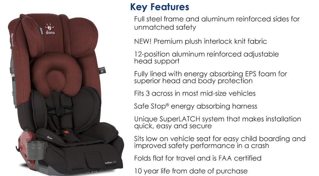 Diono radian rXT Car Seat - Pink and Blue Magazine