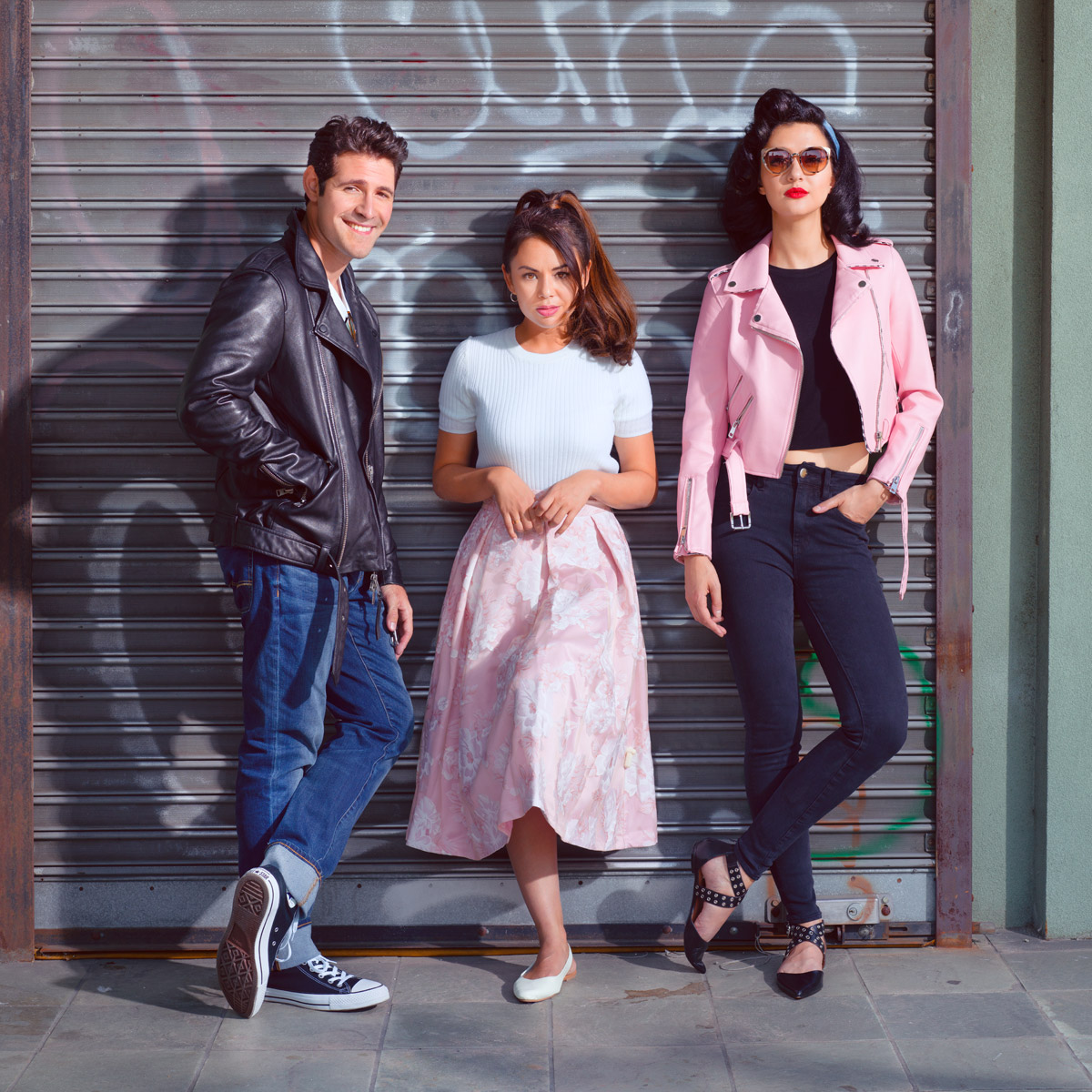 grease the musical pink and blue magazine